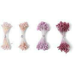 Sizzix Making Essential Flower Stamens 300/Pkg Pink & Purple