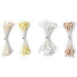 Sizzix Making Essential Flower Stamens 300/Pkg White & Cream