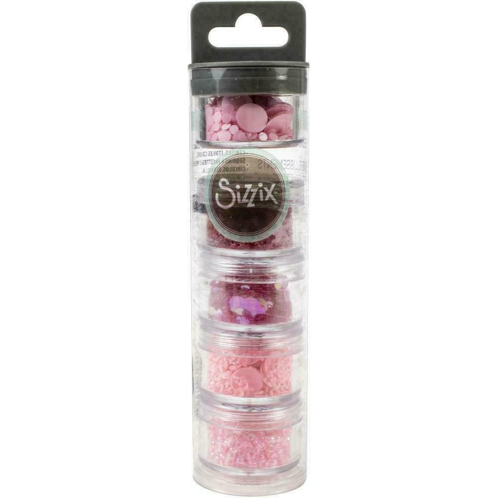 Sizzix Making Essential Sequins & Beads 5/Pkg Primrose 5g Per Pot