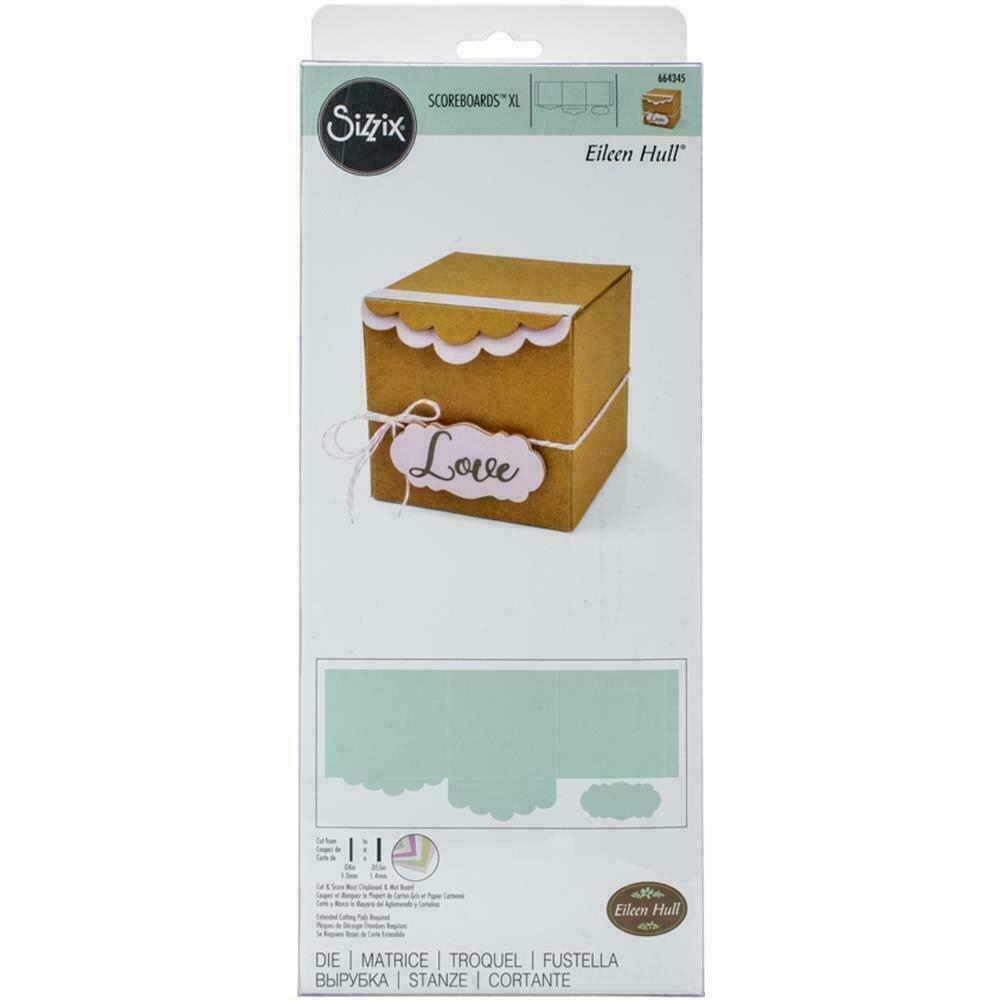Sizzix ScoreBoards XL Die by Eileen Hull Box Gift W/Scallop Edges & Label