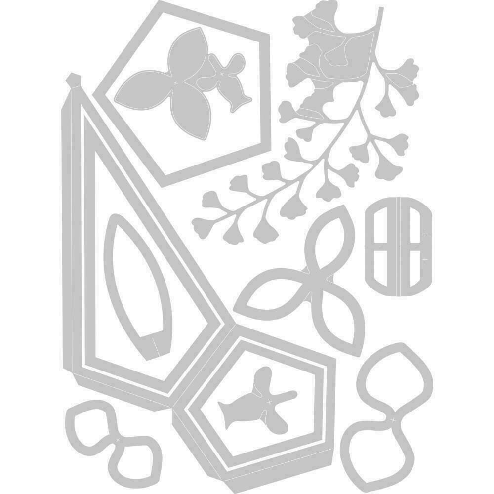 Sizzix Thinlits Dies 12/Pkg Teardrop Terrarium