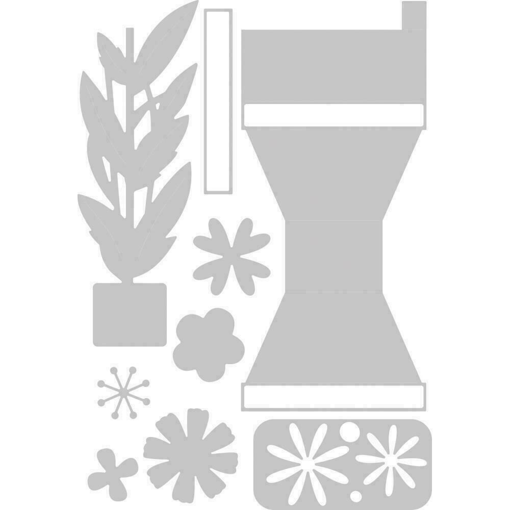 Sizzix Thinlits Dies By Georgie Evans 9/Pkg Plant Pot