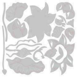Sizzix Thinlits Dies By Jen Long 3/Pkg Floral Blossom