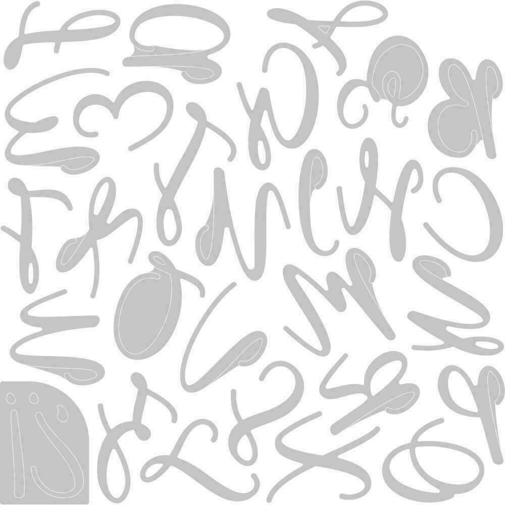 Sizzix Thinlits Dies By Lisa Jones 28/Pkg Elle Uppercase