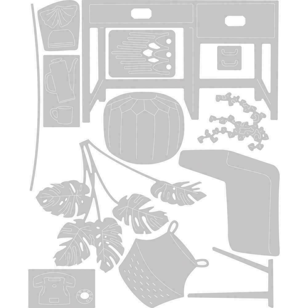 Sizzix Thinlits Dies By Olivia Rose 13/Pkg Urban Interiors