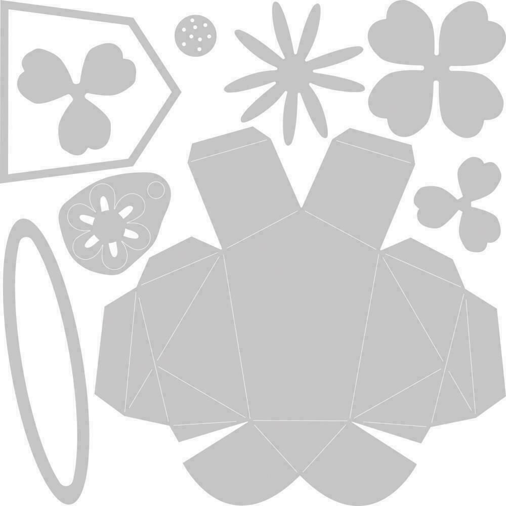 Sizzix Thinlits Dies By Olivia Rose 9/Pkg Origami Rabbit