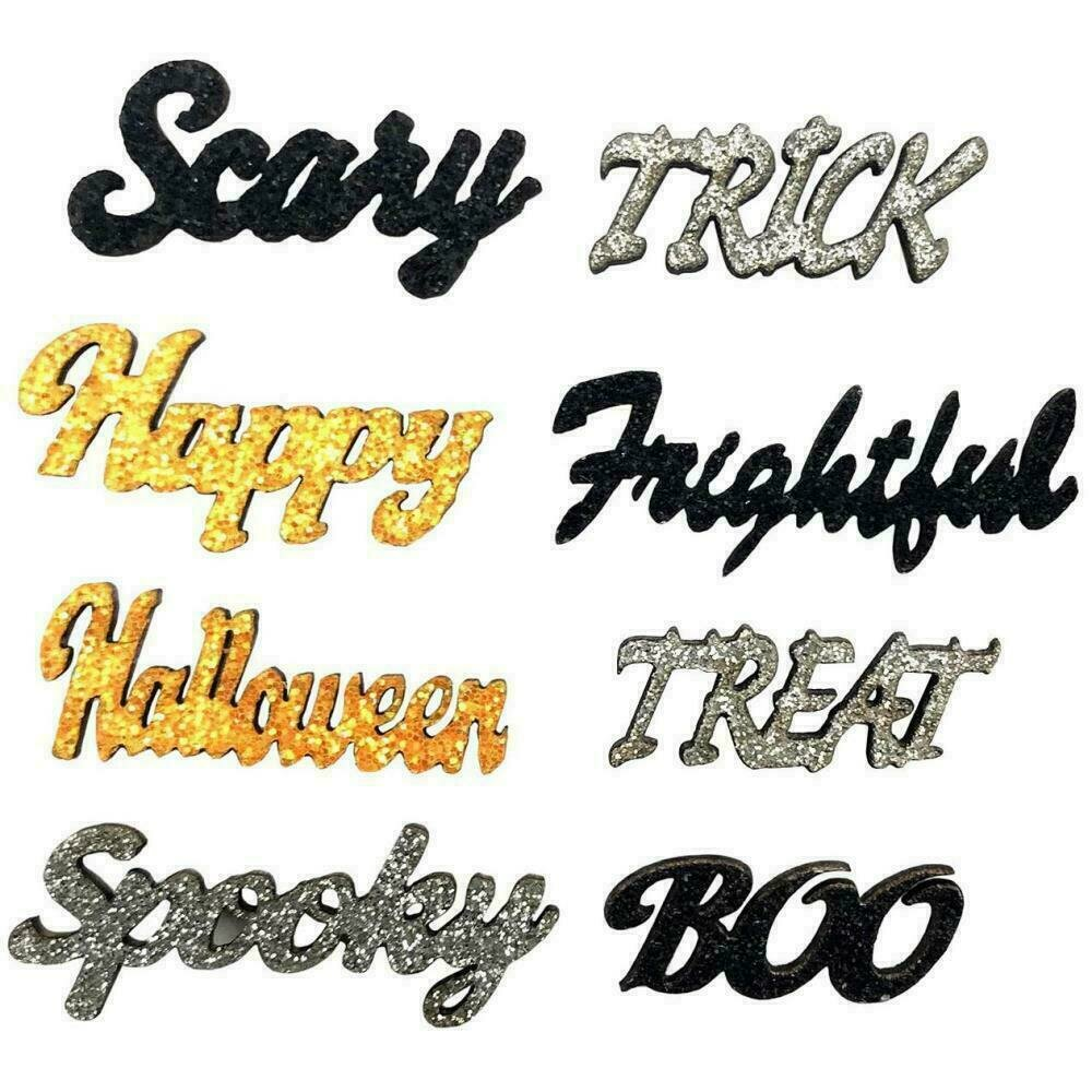 Sparkling Sentiments 8/Pkg - Halloween