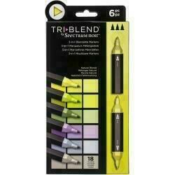 Spectrum Noir Triblend Markers 6/Pkg Natural Blends