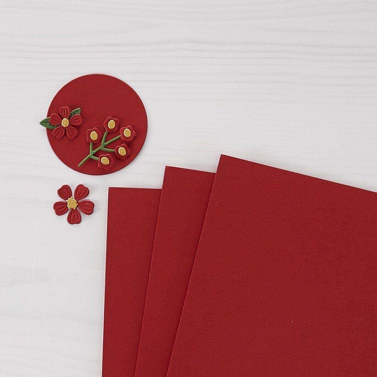 "Spellbinders Color Essentials Cardstock 8.5""X11"" 10/Pkg-Pomegranate"