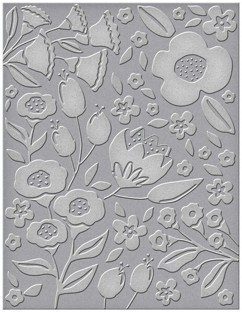 Spellbinders Embossing Folder - Simply Perfect Florets