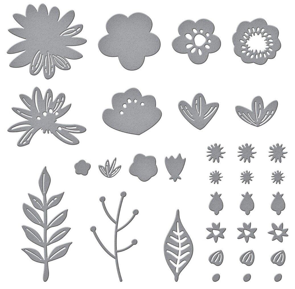 Spellbinders Etched Dies-Simply Perfect Layered Blooms