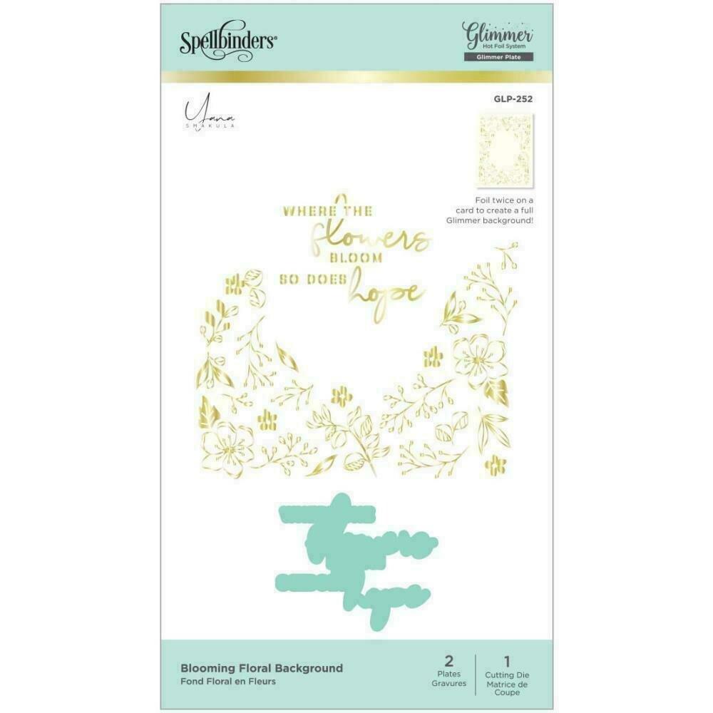 Spellbinders Glimmer Backgrounds Hot Foil Plate Blooming Floral