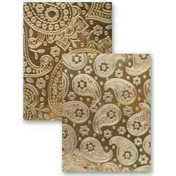 """Spellbinders M-Bossabilities 5""""X7"""" Card Embossing Folder Paisley"""