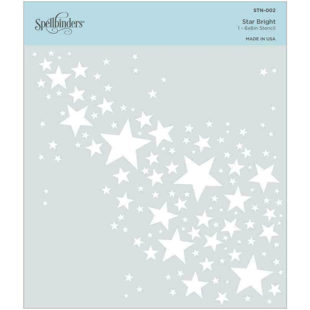 """Spellbinders Stencil  6"""" x 6"""" Star Bright"""