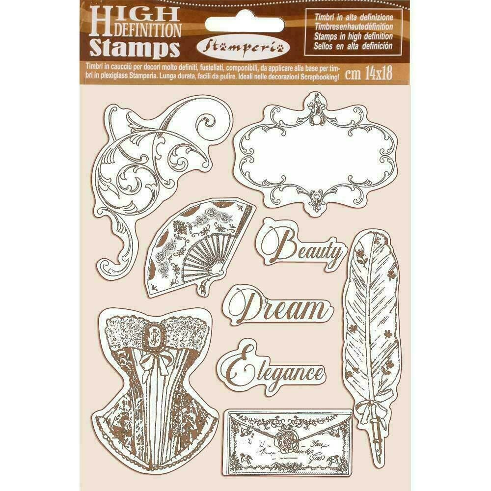 """Stamperia Cling Rubber Stamp 5.5""""X7"""" Princess"""