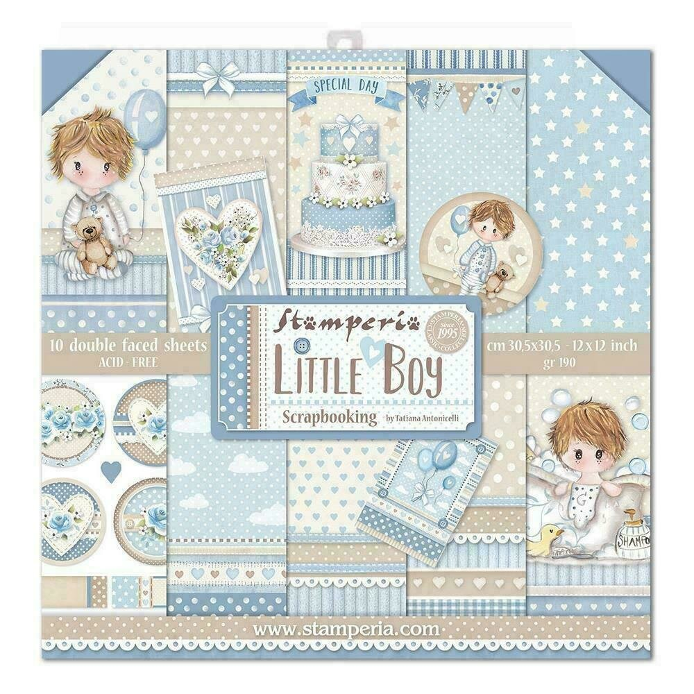 """Stamperia Double-Sided Paper Pad 12""""X12"""" 10/Pkg Little Boy 10 Designs/1 Each"""