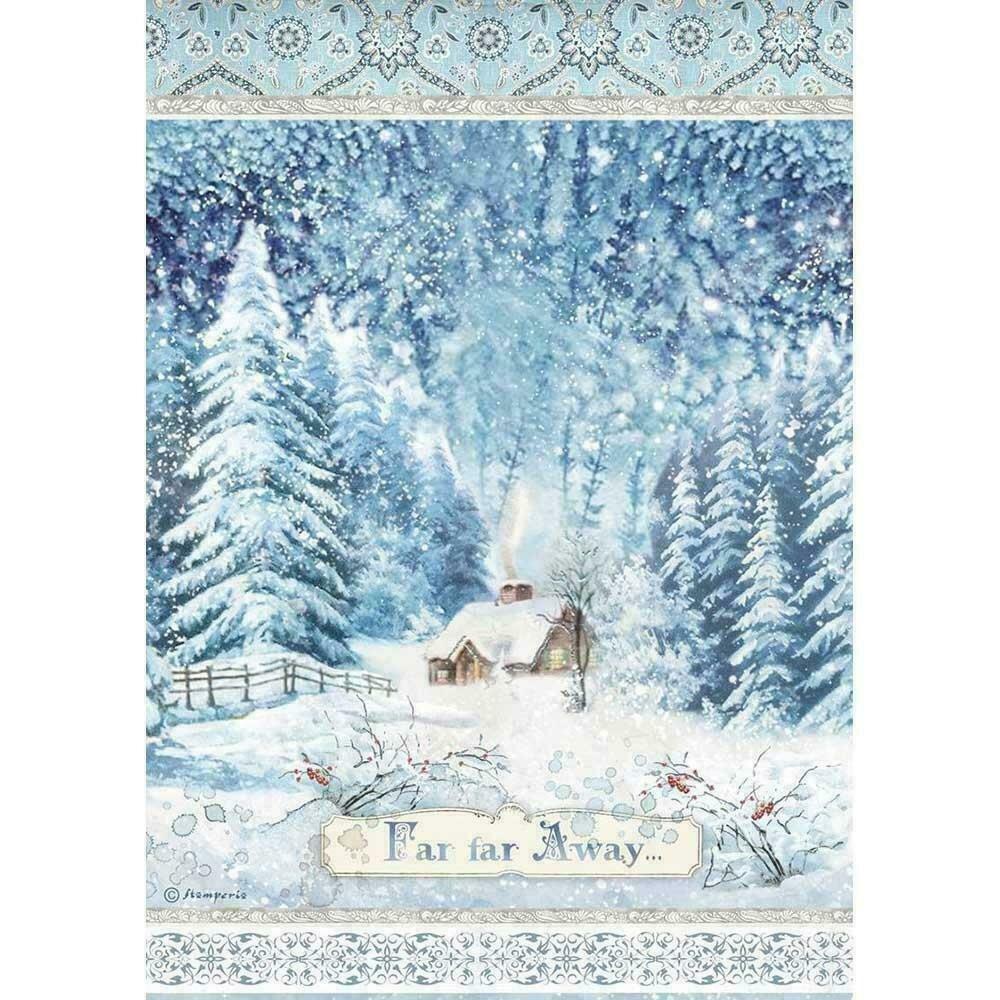 Stamperia Rice Paper Sheet A4 Far Far Away Winter Tales