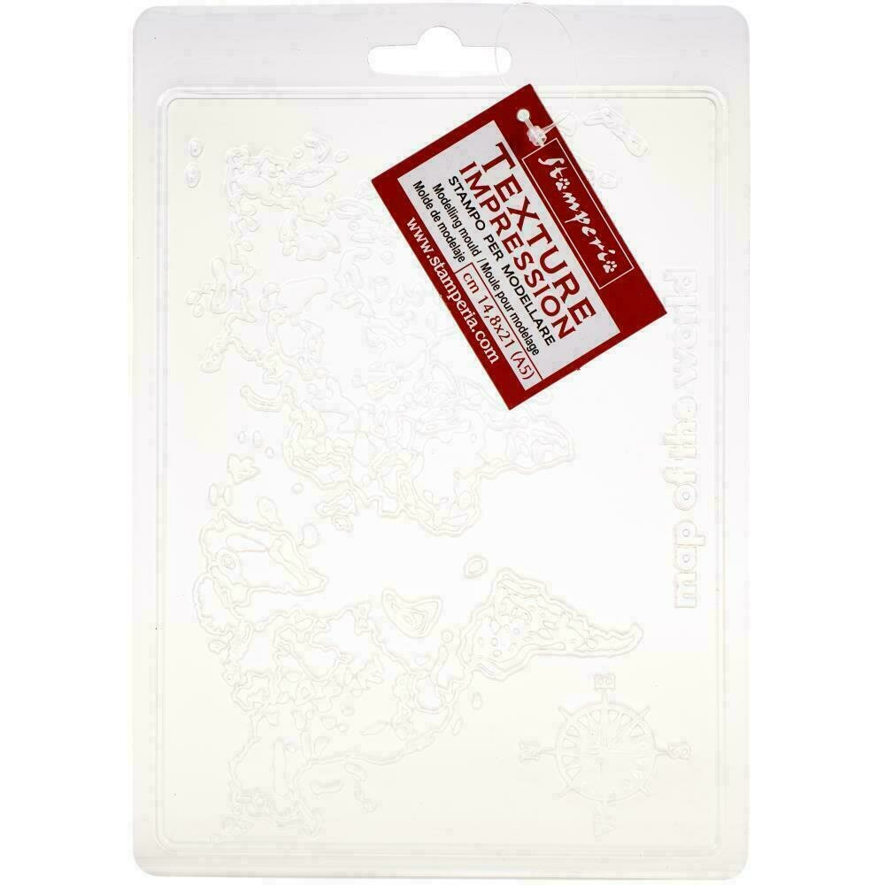Stamperia Soft Maxi Mould A5 Map Of The World