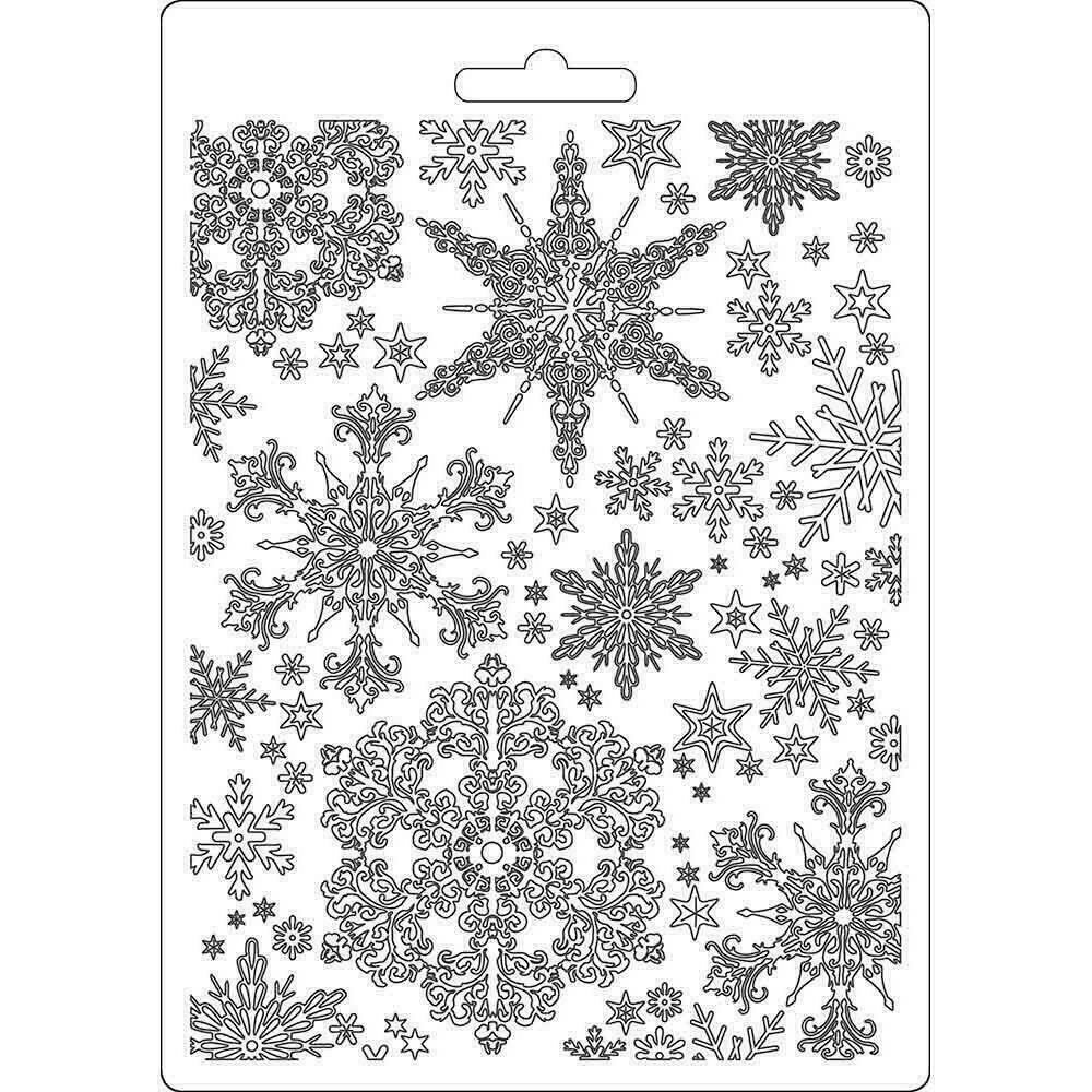 Stamperia Soft Maxi Mould A5 Snowflakes Winter Tales