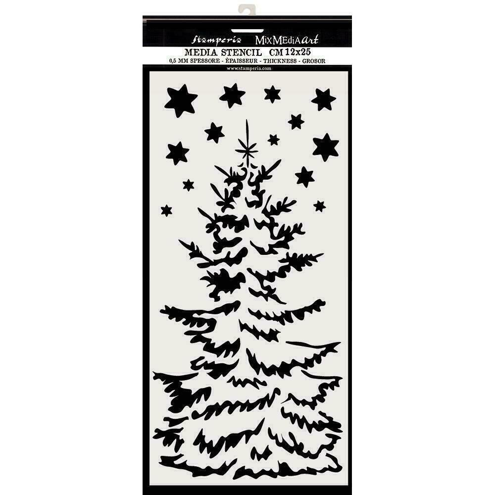 """Stamperia Stencil 4.72""""X9.84"""" Christmas Tree"""