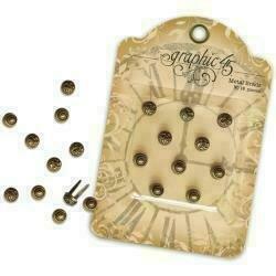 Staples Ornate Metal Brads 10/PkgAntique Brass 2 Designs/5 Each 10mm