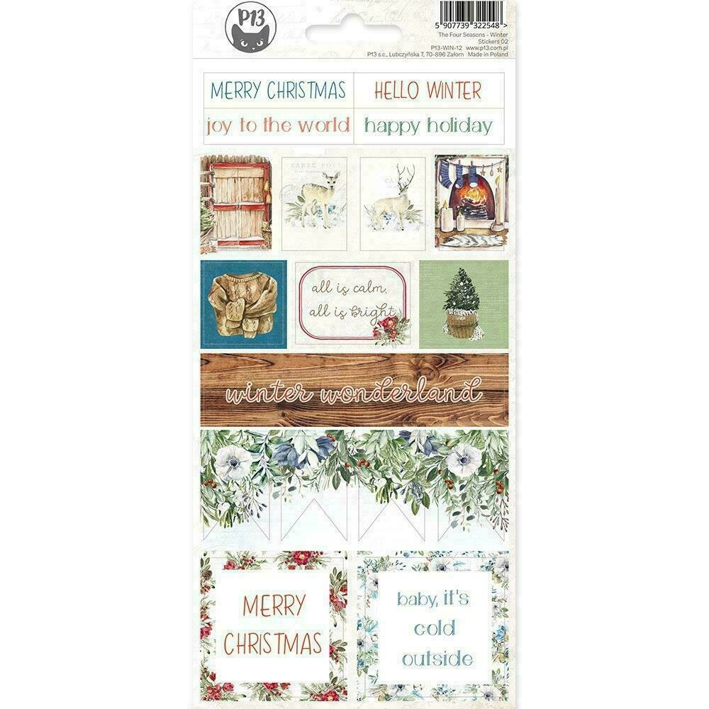 """The Four Seasons-Winter Cardstock Stickers 4""""X9"""" #02"""