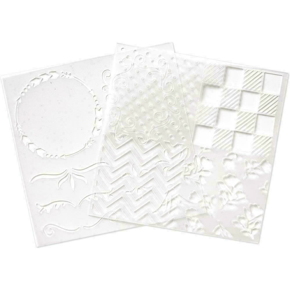 """We R Memory Keepers Foil Quill Freestyle Stencils 7""""X7"""" 2/Pk Patterns"""
