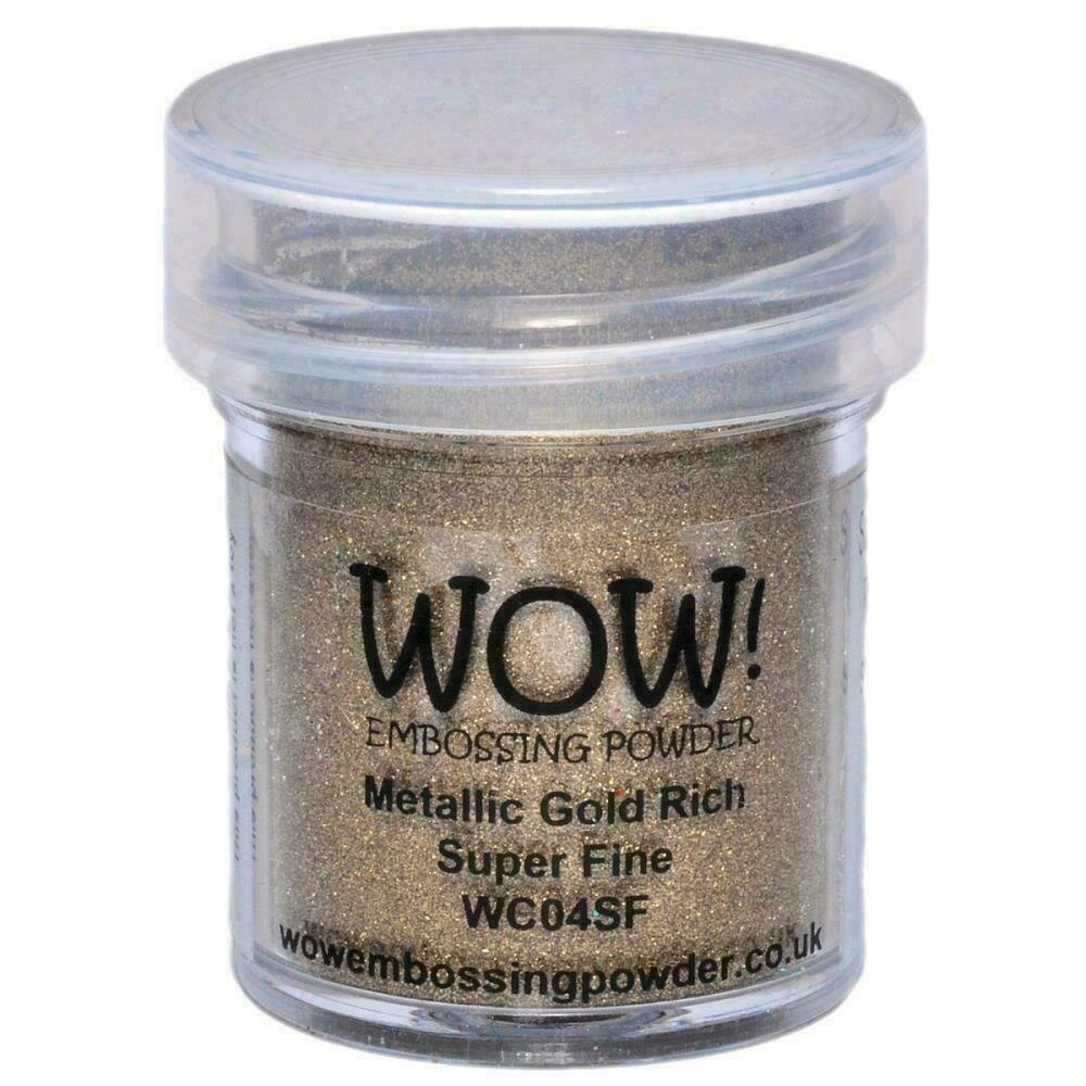WOW! Embossing Powder Super Fine 15mlGold Rich