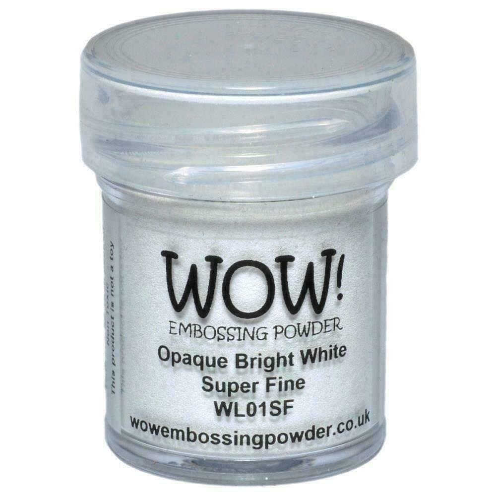 WOW! Embossing Powder Super Fine 15mlOpaque Bright White