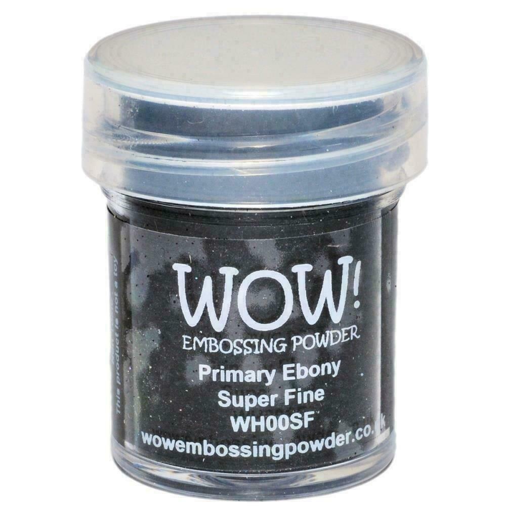 WOW! Embossing Powder Super Fine 15mlPrimary Ebony