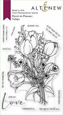 Paint-A-Flower: Tulips Outline Stamp Set by Altenew