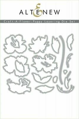 Altenew Craft-A-Flower: Poppy Layering Die Set
