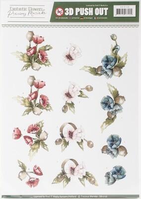 Find It Trading Precious Marieke Punchout Sheet-#2 Fantastic Flowers