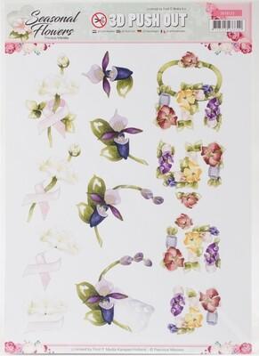 Find It Trading Precious Marieke Punchout Sheet Ladyslipper Seasonal Flowers