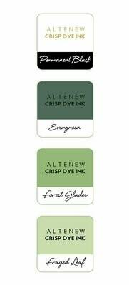Crisp Dye Ink Mini Cube Set - Green Fields