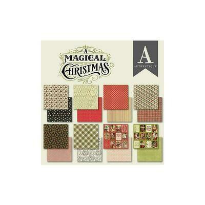"""Authentique A Magical Christmas 6""""X6"""" 24/Pkg"""