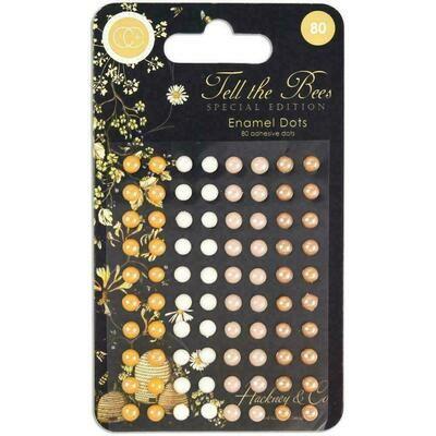 Tell the Bees Adhesive Enamel Dots 80/Pkg