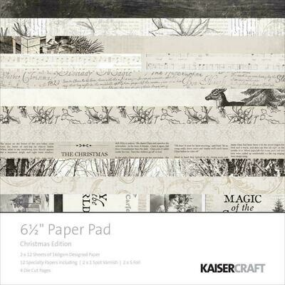 "Kaisercraft Paper Pad 6.5""X6.5"" 40/Pkg Christmas Edition"