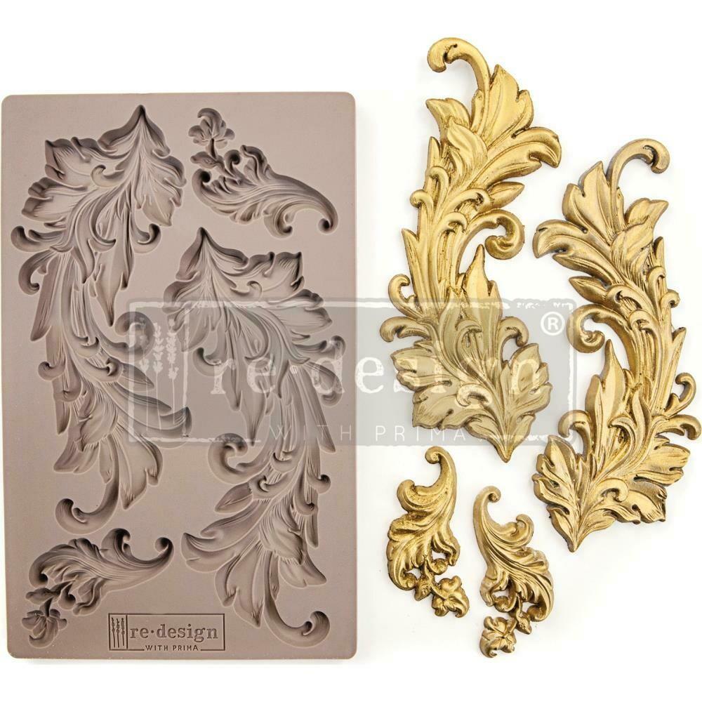 "Prima Marketing Re-Design Mould 5""X8""X8mm-Baroque Swirls"