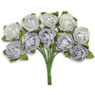 Kaisercraft Mini Paper Blooms Flowers W/Wire Stem 10/Pkg Misty