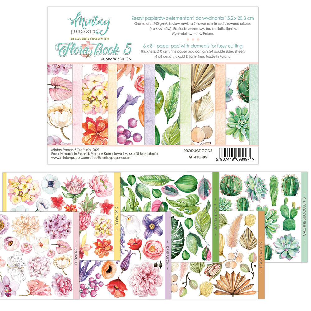 Mintay Papers Flora Book #5