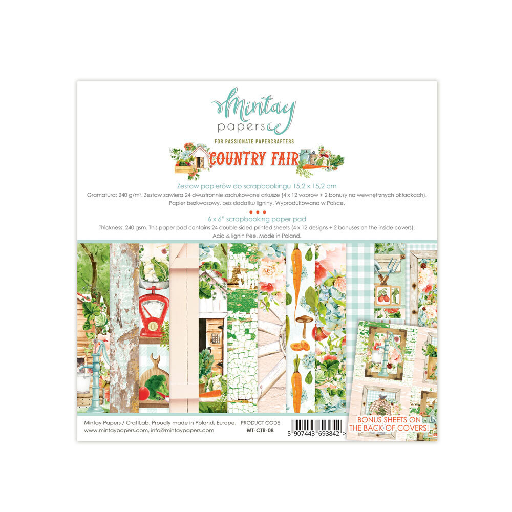Mintay Papers Country Fair 6x6 Pad