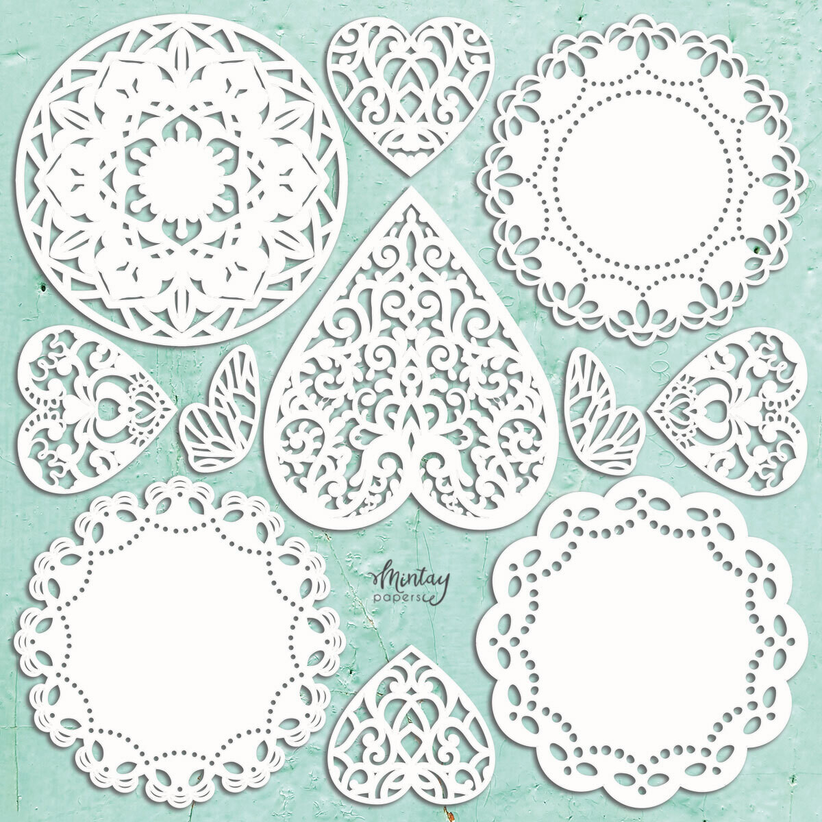 Mintay Papers Chippies - Doilies Set 11 Pcs.