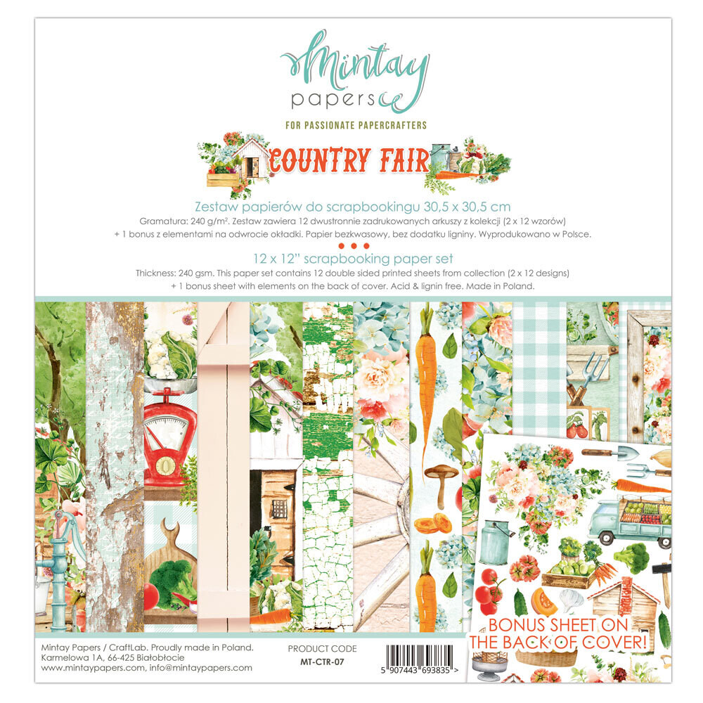 Mintay Papers Country Fair 12x12 Collection Pack