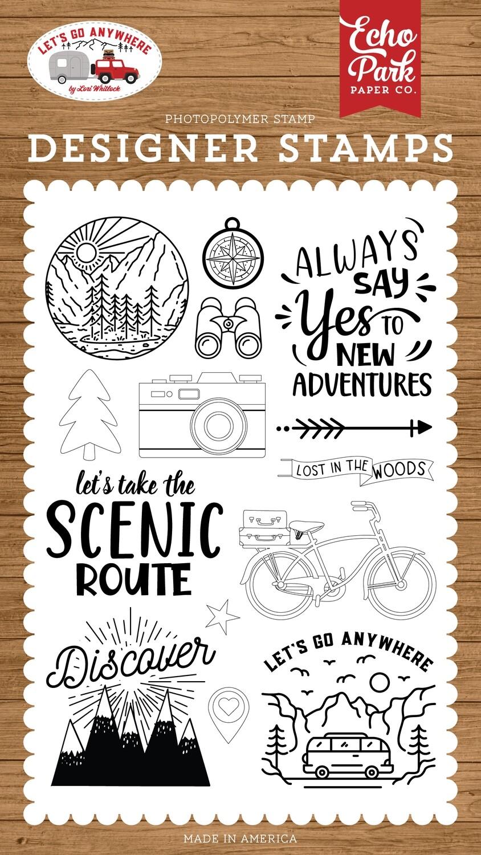Echo Park 4x6 Stamp Set - New Adventures