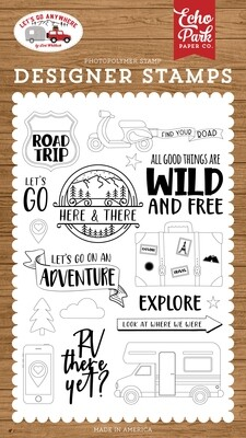 Echo Park 4x6 Stamp Set - Road Trip