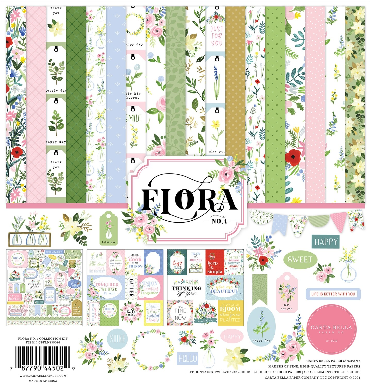 Flora #4 By Carta Bella 12x12 Collection Pack
