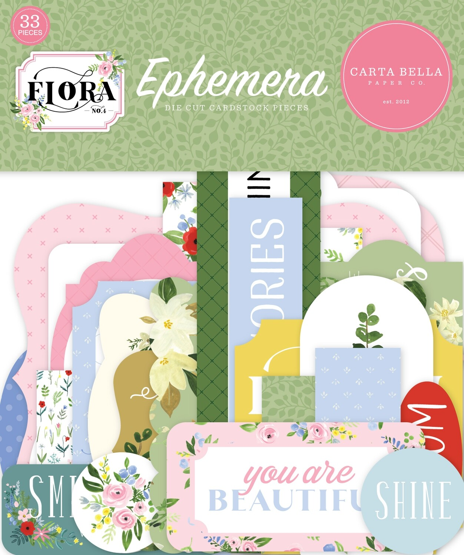 Flora #4 By Carta Bella Ephemera Pack