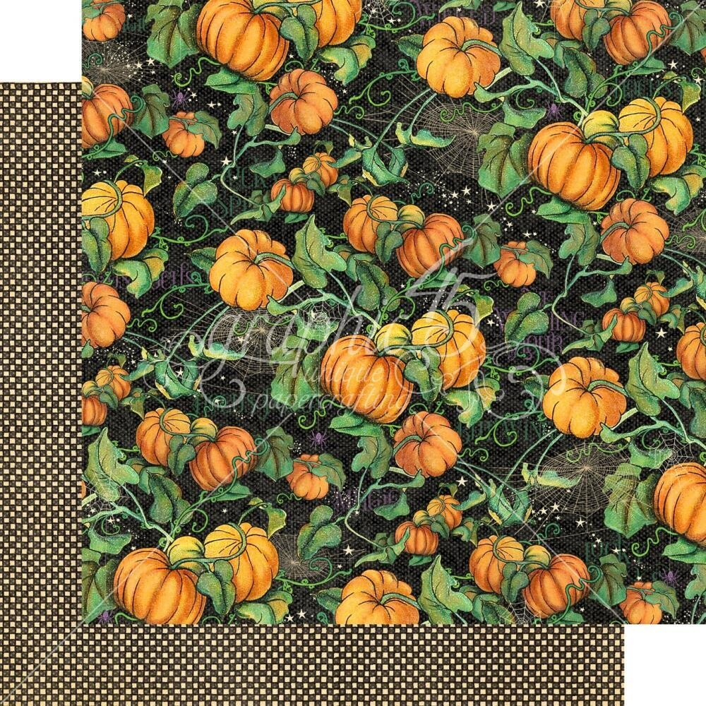 Midnight Tales By Graphic 45 Pumpkin Patch 12x12 Sheet