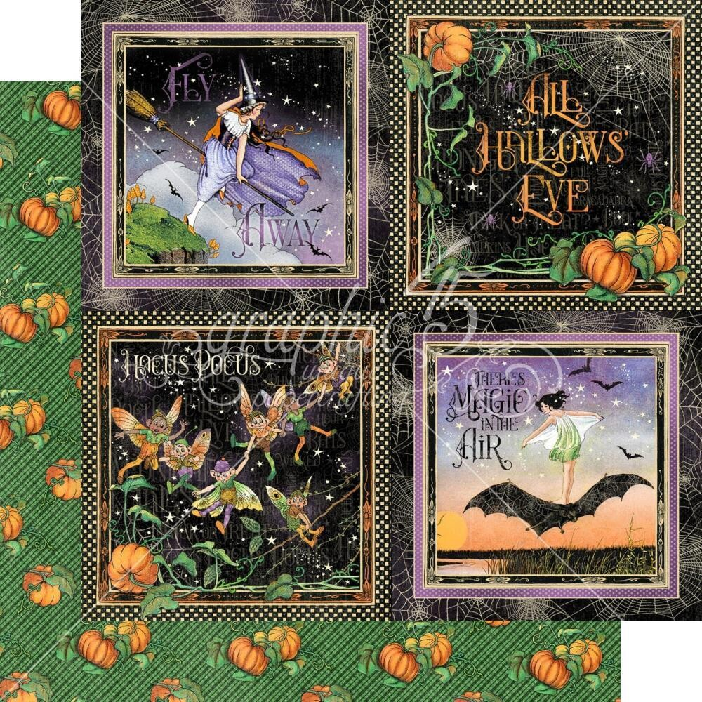 Midnight Tales By Graphic 45 Hallow's Eve 12x12 Sheet